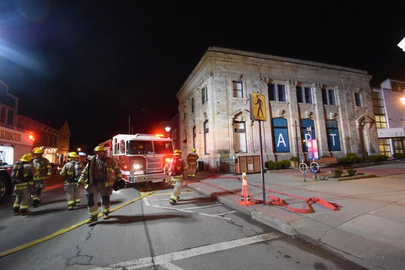 In January 2020, Yarmouth firefighters traced the smell of smoke at the Western Branch of the Art Gallery of Nova Scotia in Yarmouth to an overheated motor in the ventilation system after being alerted by an alarm. TINA COMEAU PHOTO