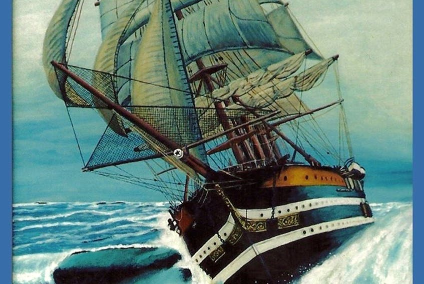 This painting by Rodney Stark has been used as the book cover for, 'The Shipwreck Ledger of Benj H Ruggles' CONTRIBUTED