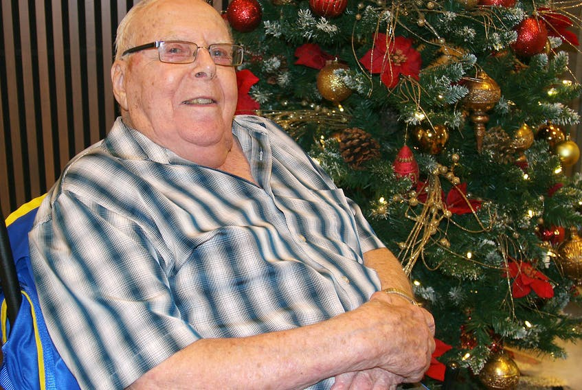 Arnold Trask, resident of Tideview Terrace in Digby, shared some special Christmas memories this week, including a story of a sled with no snow.