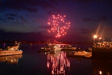 Yarmouth July 1 Canada Day fireworks over the harbour. TINA COMEAU PHOTO