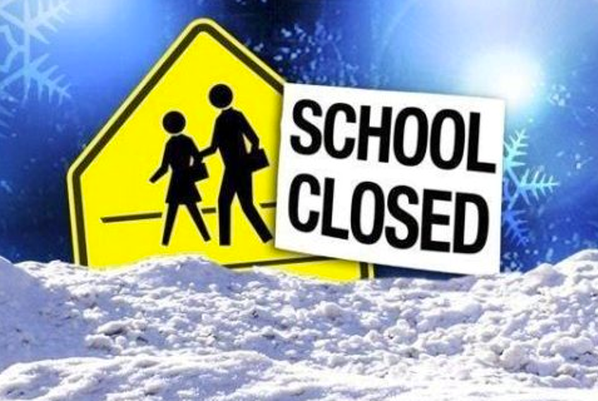 Schools closed due to weather.
