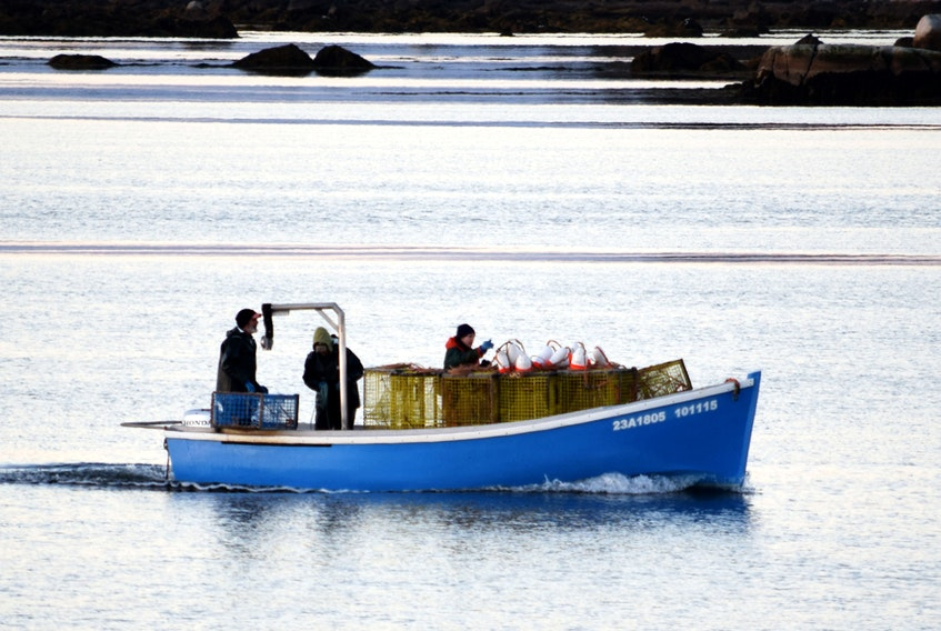 2017 dumping day kicks off starts to lobster season. Fishermen set traps in the waters near the Cape Sable Island Causeway. KATHY JOHNSON