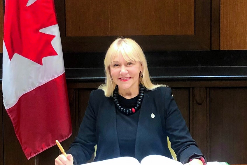 Lenore Zann is officially sworn-in as the MP for Cumberland-Colchester during a ceremony on Parliament Hill on Nov. 26.