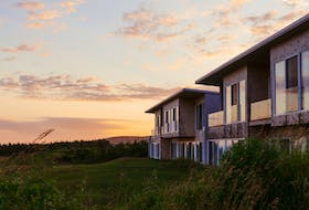 The exterior of hotel rooms at Cabot Links in Inverness. Construction is about to begin on luxury villas at the nearby Cabot Cliffs course.  Contributed
