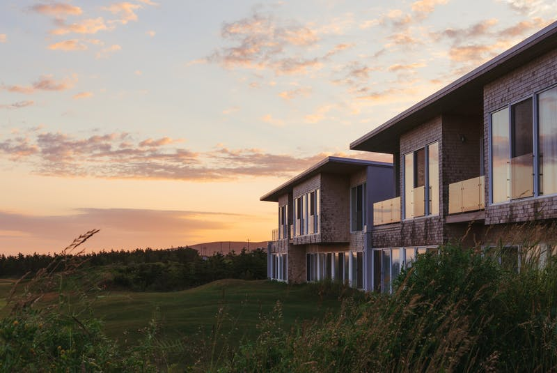 The exterior of hotel rooms at Cabot Links in Inverness. Luxury villas are to be constructed at the nearby Cabot Cliffs course. Contributed