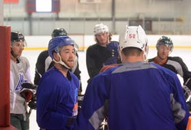 Former P.E.I. Rocket captain Josh Currie is preparing for his upcoming pro season. He skated Thursday with other Island-based pros and members of the UPEI Panthers men's hockey team in Pownal.