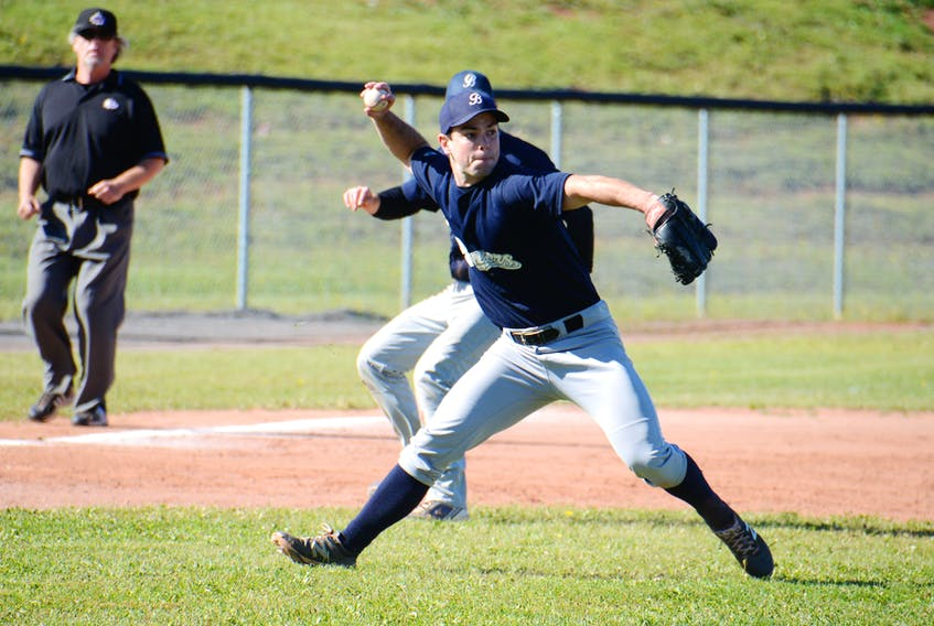 The Alley Stratford Athletics hosted the Northside Gill Construction Brewers Sunday in Game 3 of the Kings County Baseball League final at MacNeill Field.