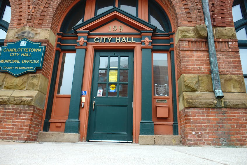 Charlottetown City Hall in downtown Charlottetown.
