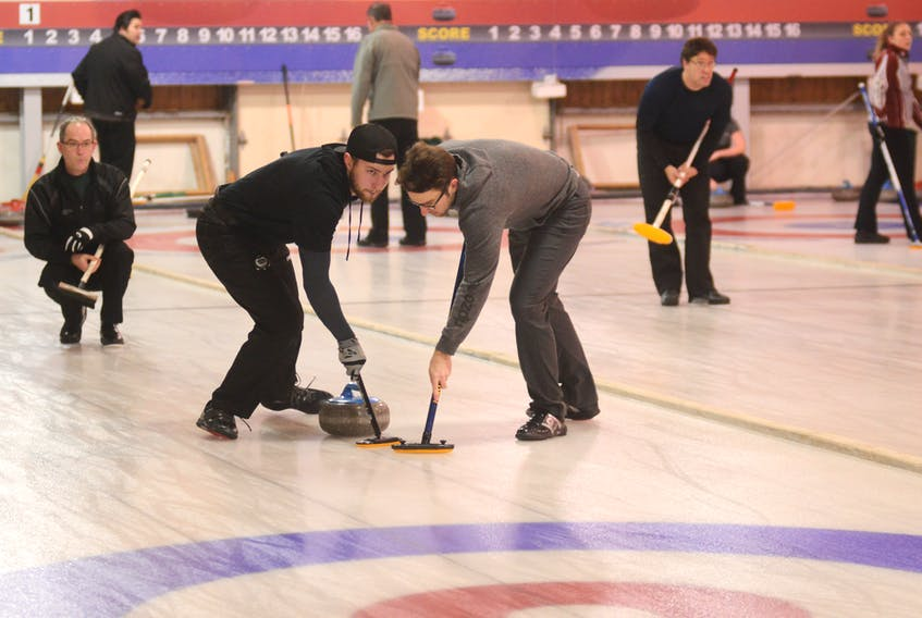 The P.E.I. Scotties Tournament of Hearts and the P.E.I. Tankard began Thursday at the Cornwall Curling Club.