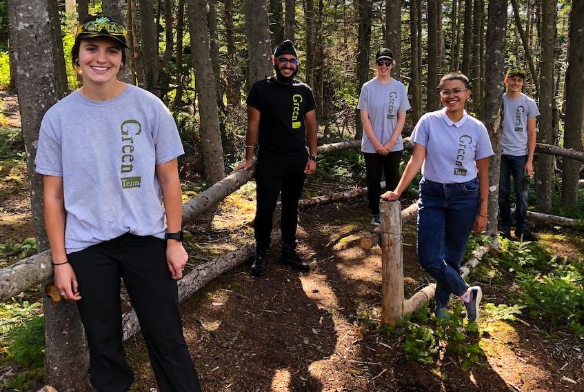 The O'Brien Farm Foundation Green Team is (left-right) Anna Malone, Gurzint Singh, Jessica Kaye, Shramana Sarkar and Liam French. -JUANITA MERCER/THE TELEGRAM