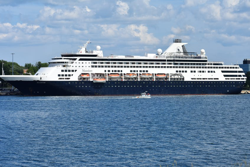 Once a common sight in Sydney harbour, the former Holland America cruise ship Maasdam is unlikely to return to Canada anytime soon. The ship was sold to Greece-based Seajets and is now called the MS Aegean Myth. DAVID JALA/CAPE BRETON POST