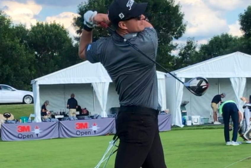 Aaron Crawford missed the cut at the PGA's 3M Open, but loved every minute of his time there. Photo courtesy of Aaron Crawford