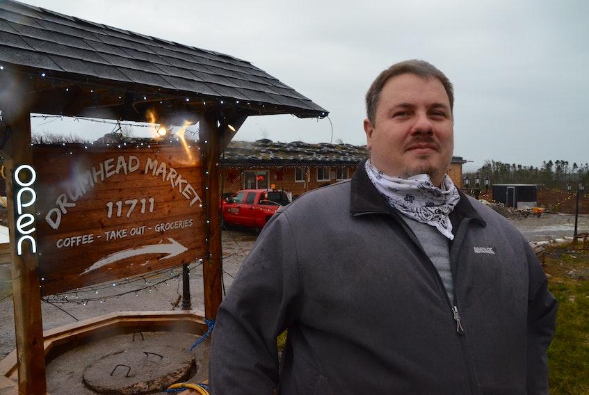 Martin Theobold at the Drum Head Market on Monday