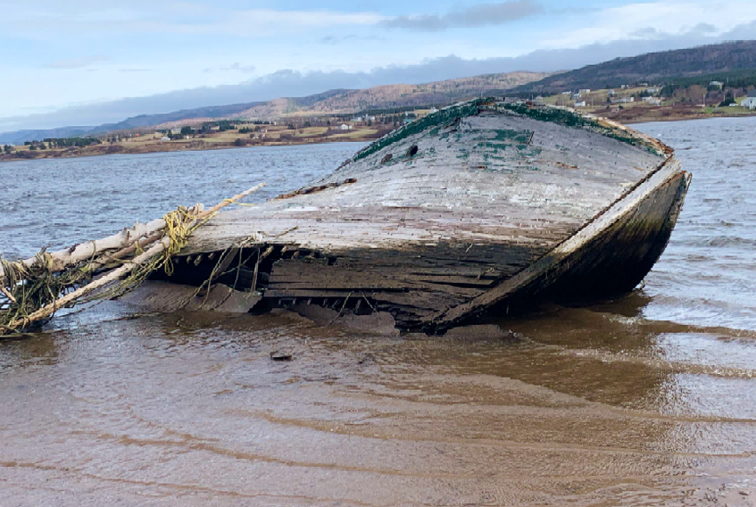 An abandoned vessel in Margaree Harbour, Inverness County. The boat has not been removed yet. CONTRIBUTED