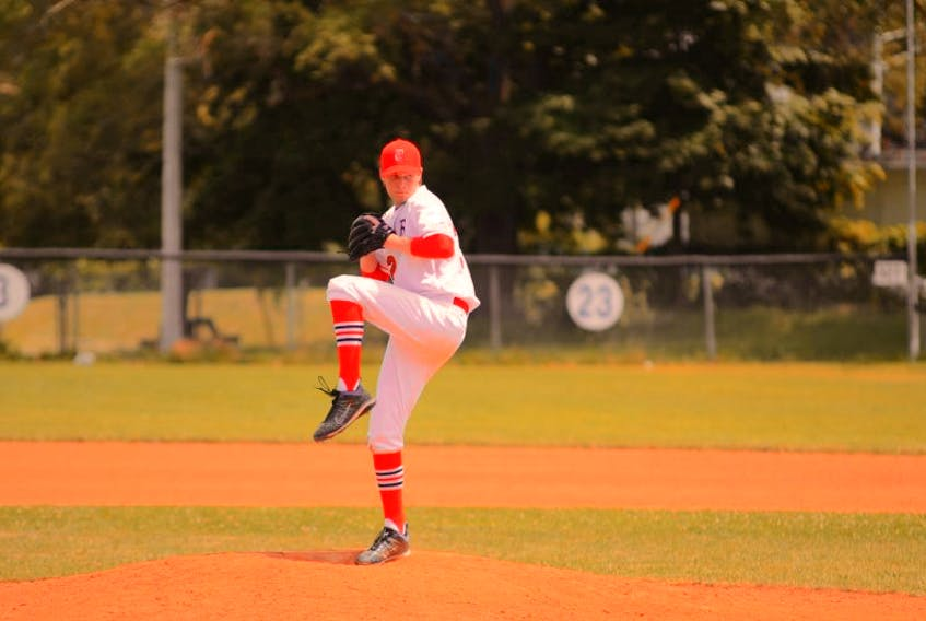 David Pilat pitched a no-hitter in the first game of the Acadia Axemen baseball club's season. - Submitted