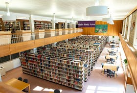 All is quiet. This photo was taken March 17 at Acadia University's Vaughan Memorial Library. GRANT LOHNES