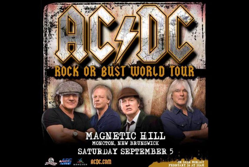 AC/DC bringing its Rock or Bust tour to Moncton's Magnetic Hill on Sept. 5