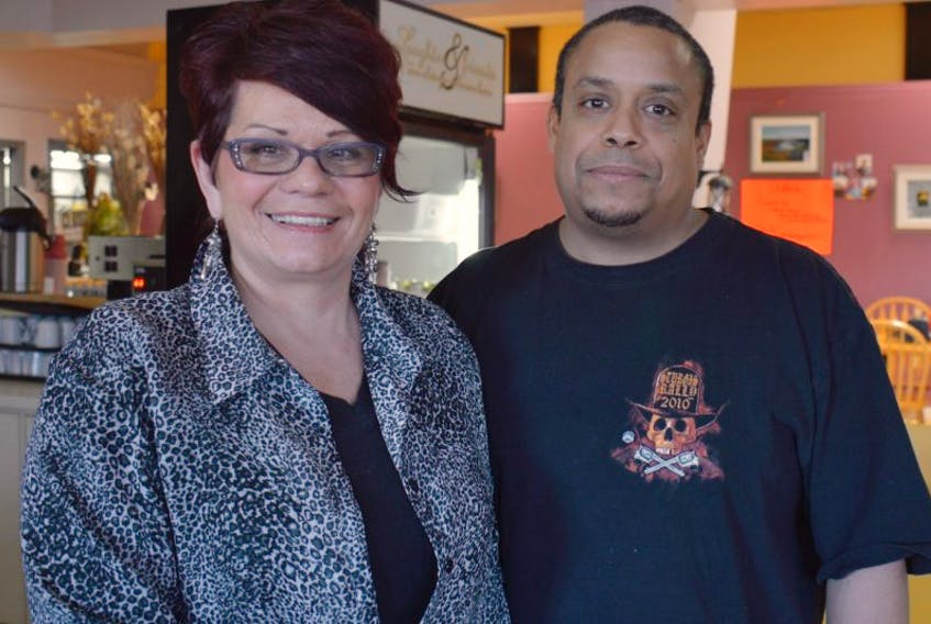 Andrea Boyle-Muniz and Cesar Muniz relocated from Nevada to Montague to operate their new business, Lady's Slipper Café, and for her to experience P.E.I. firsthand where many members of her biological family reside. <br /><br />