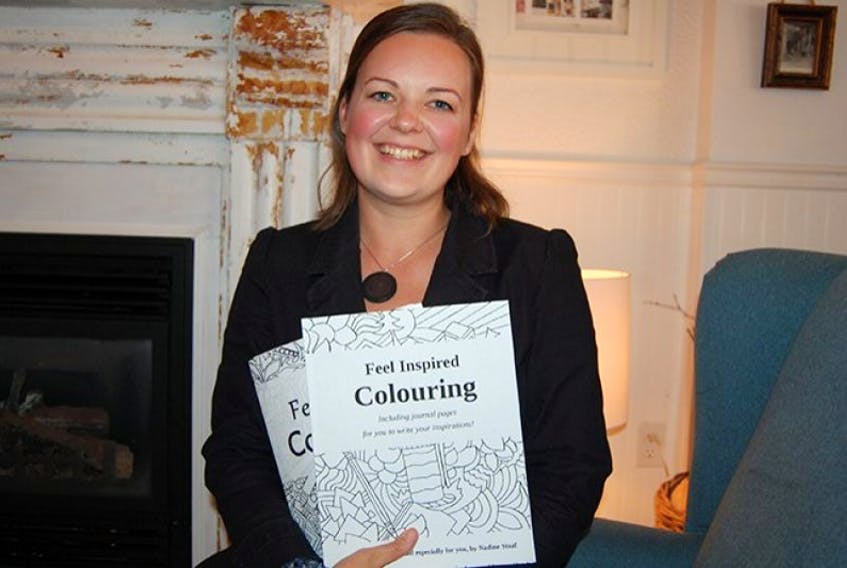 """Nadine Staff moved to Prince Edward Island in January of this year with her husband, Kyler, and son, Orion, and brought her talent with her as she just recently published her third adult colouring book. Staff sells her books at many retailers. For a full list, visit <a href=""""http://www.feelgoodcolouring.com"""" target=""""_blank"""">www.feelgoodcolouring.com</a>."""