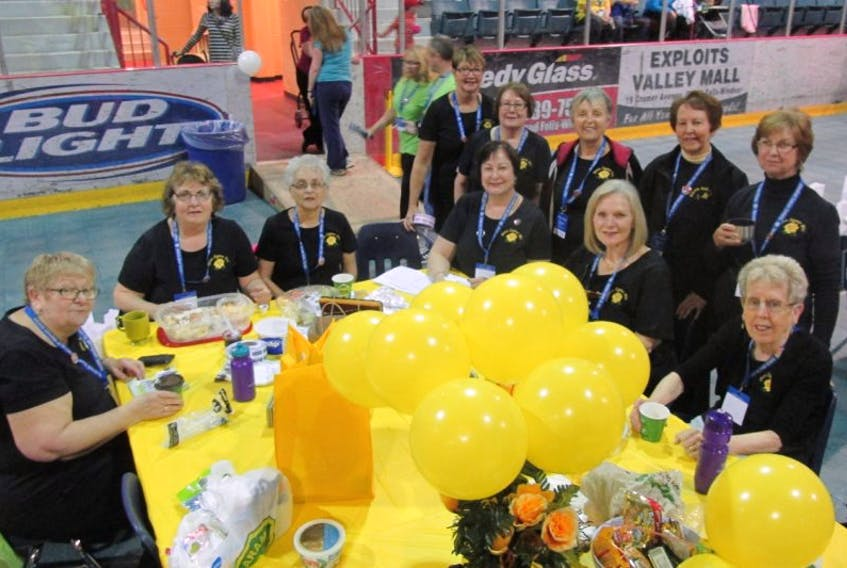 Beta Sigma Phi teammates were kept busy between laps during the Relay for Life in Grand Falls-Windsor on June 3.