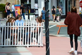 Water Street in St. John's appeared a little busier Thursday after the province went to alert level 2. Diners and pedestrians took advantage of the sun and warm weather to stroll the downtown and eat at some of the restaurants, including ones with outdoor patios.