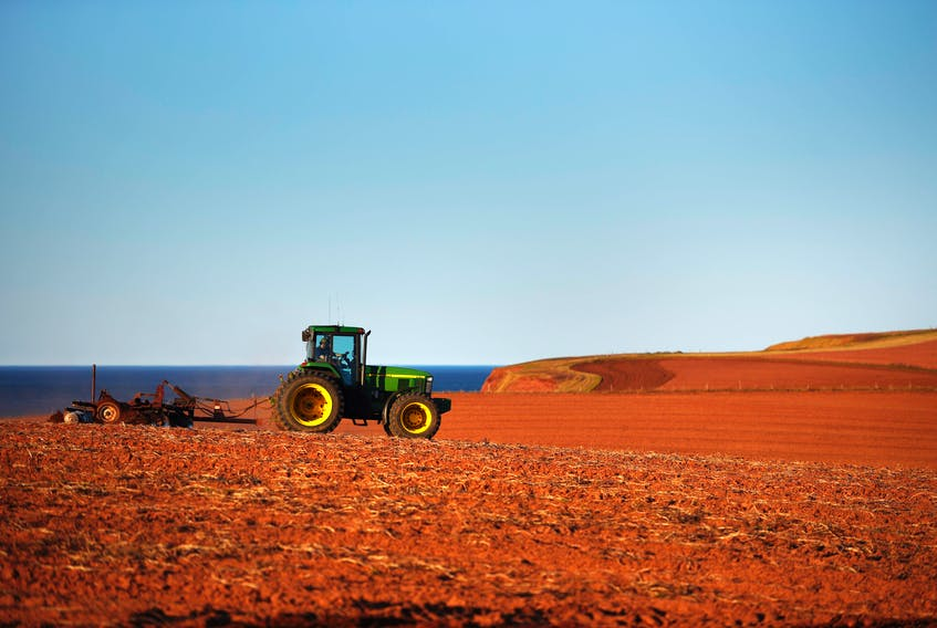A farmer works a Prince Edward Island field in the spring of 2020. The proposal for a land bank would involve the province buying farmland for the purpose of keeping it in use for food cultivation. Nathan Rochford/The Guardian