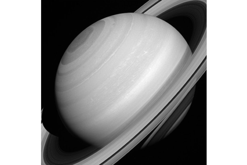 Although solid-looking in many images, Saturn's rings are actually translucent. In this picture, we can glimpse the shadow of the rings on the planet through (and below) the A and C rings themselves, towards the lower right-hand corner. The image was taken with the Cassini spacecraft wide-angle camera on Aug. 12, 2014 at a distance of approximately 2.3 million kilometers from Saturn.