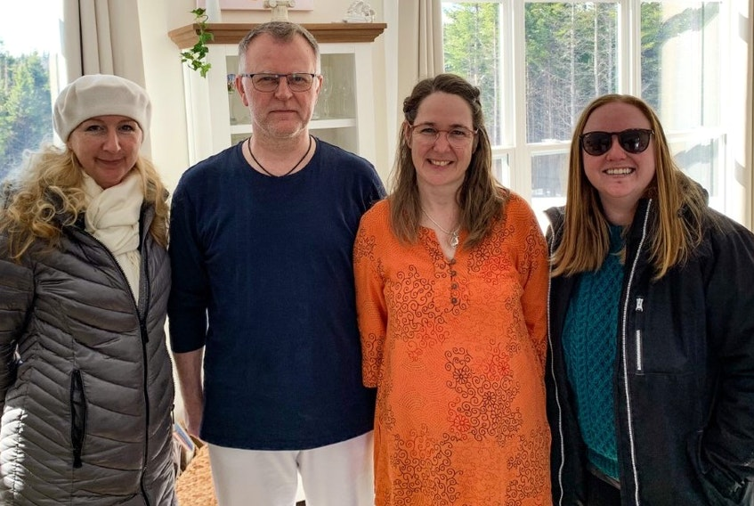 The St. Peter's Welcome Group welcomed the Wippermanns, left to right, Olena, Dieter, Krestin and Kathleen to Richmond County. CONTRIBUTED