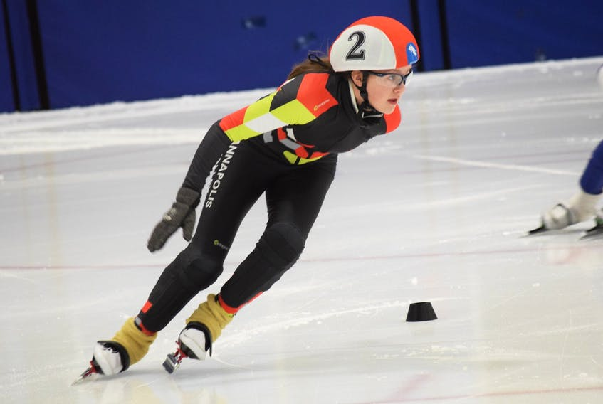 Georgia Lloyd, of the Annapolis Valley Speed Skating Club (AVSSC), has been named to Team Nova Scotia for the Canadian Youth Short Track Championships – East. CONTRIBUTED