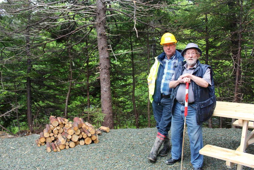 Dan Walker (left) and his father Lloyd Walker are shown on family land that has been developed into the Waterford River Valley Campground in Mount Pearl. TELEGRAM FILE PHOTO