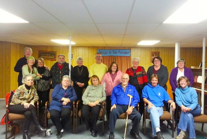 A few of the members of ABCDS' refugee sponsorship group met Nov. 29 at Bear River Baptist Church.