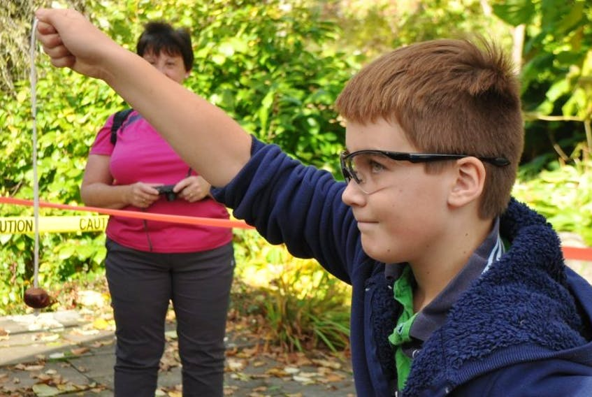 Rhys Scranton, 11, from Annapolis Royal has participated in the annual North American Conkers Championship for the past three years. He has been a semi-finalist the last two years and will compete again this year for the championship held Oct. 17 at the Historic Gardens in Annapolis Royal.