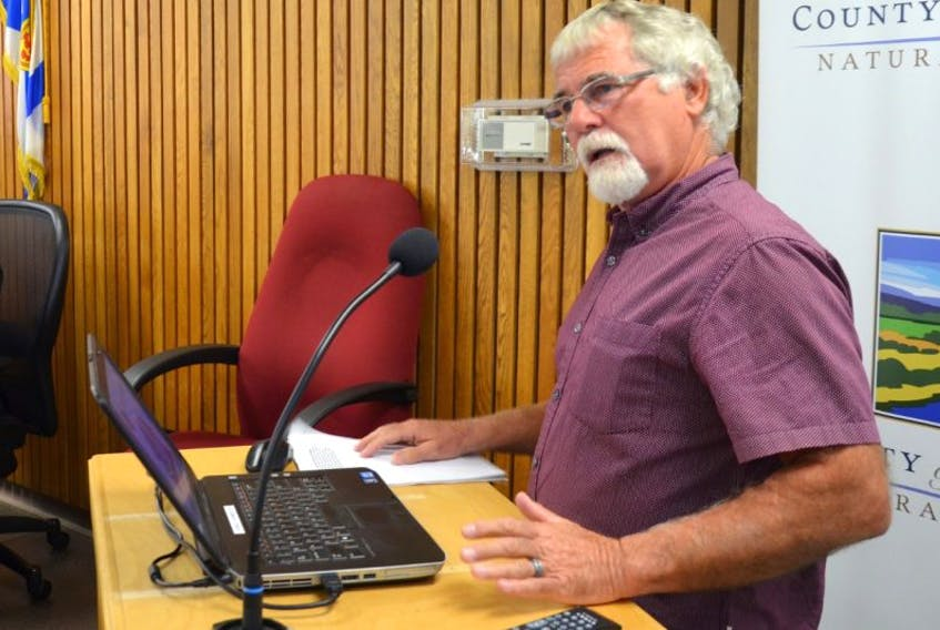 Wayne Currie, who heads the Granville Road Ratepayers Association, started a presentation to Annapolis County council seeking protection of what many think is Canada's oldest stretch of road. Council has called a meeting for Oct. 11 for residents of districts 4 and 5 to see what their thoughts are around land use planning in the area.