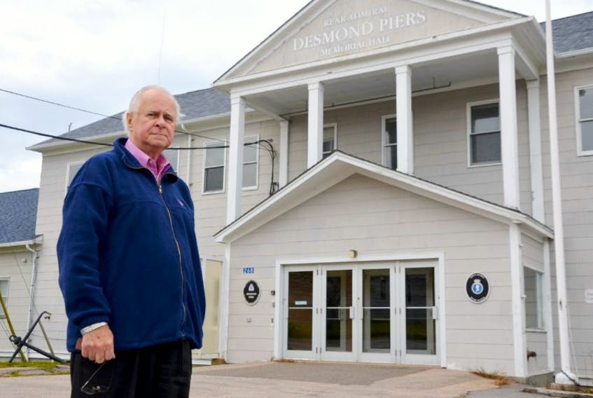Alex Morrison stands in front of what used to be known as the Angle Building back when the Pearson Peacekeeping Centre in Cornwallis was teaching soldiers and civilians from around the world the ways of peace. The building, where the students were taught, was named in memory of the first Canadian killed on peacekeeping, Brigadier Harry Angle from British Columbia. He was killed in an air crash on July 17, 1950 in the mountains of the Punjab-Kashmir region.