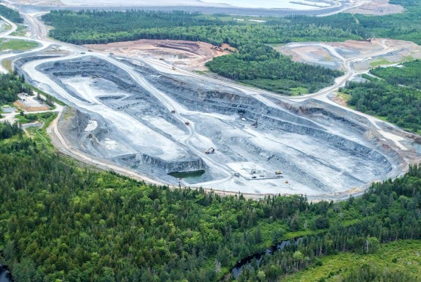 Atlantic Gold's Moose River gold mine as seen from a helicopter. Raymond Plourde File Photo
