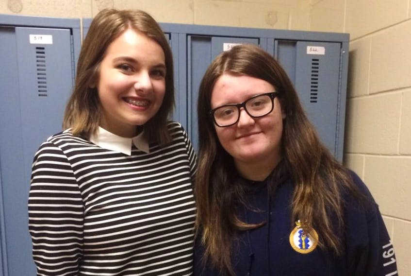 Rebecca Smith (left) and Bethany Michelin will both be competing for the Miss Achievement title in St. John's this week. The two girls are looking forward to meeting new friends and having new experiences as contestants in the pageant.