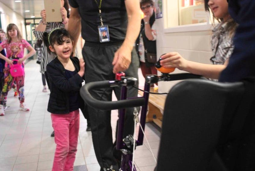 <p>Ava's bike was delivered last week and her smile and laughter was infectious.</p>