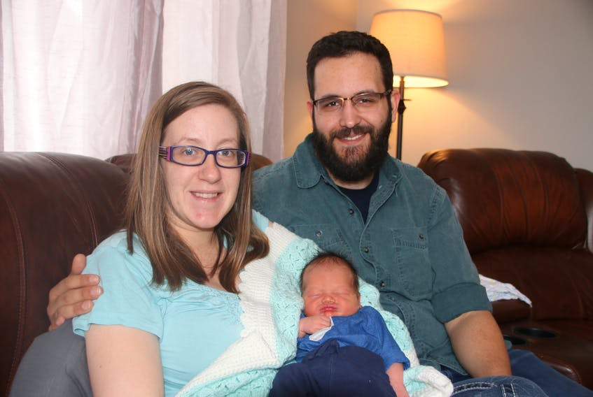 Terra Larkin and Ben Cochrane are the parents of Truro's New Year's baby, Garrison Cochrane. Garrison was born Jan. 5, during he first storm of the year, and has been an easygoing boy so far.