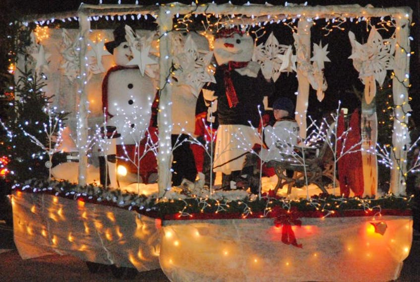 <p>A winter wonderland won the Best Commercial entry for Causeway Interiors in the Barrington Area Chamber of Commerce Festival of Lights Christmas Parade on Dec. 7. Kathy Johnson photo</p>