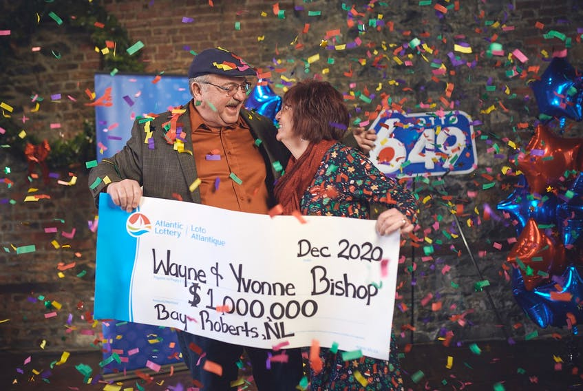 Wayne and Yvonne Bishop of Bay Roberts plan to use some of their $1-million prize to purchase the motorhome they've always had their eyes on. Photo courtesy Atlantic Lottery Corp.