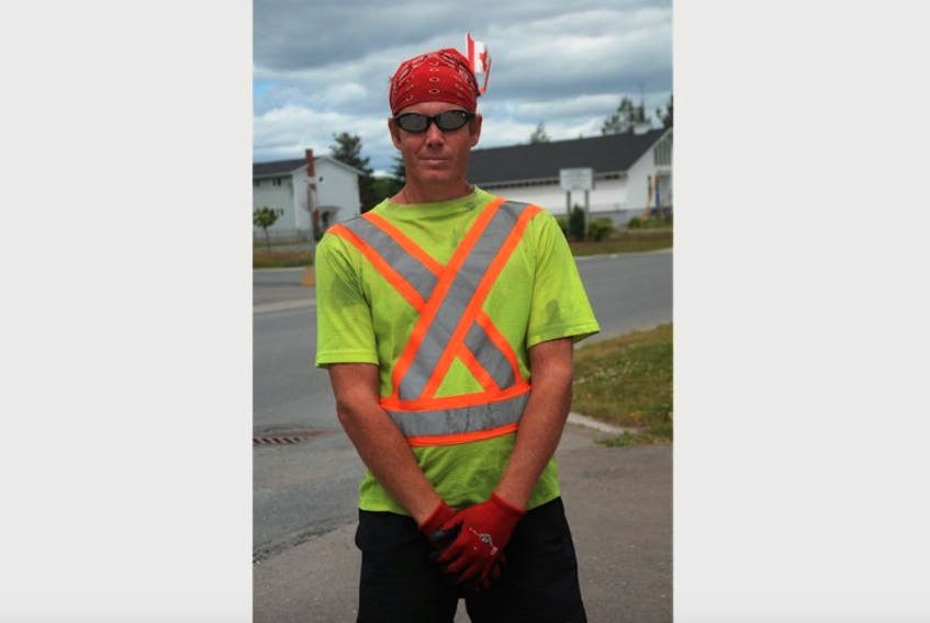 Ontario's Derek Campbell is running across Canada to raise funds for sick and hungry children of the world, all the while paying respect to veterans and raising awareness about environmental issues in the country. On July 24, after two weeks into the journey, he had run from St. John's to Gander.