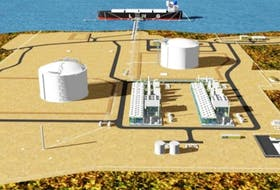 <span>Schematic site layout for the proposed Bear Head LNG export project, near Port Hawkesbury.