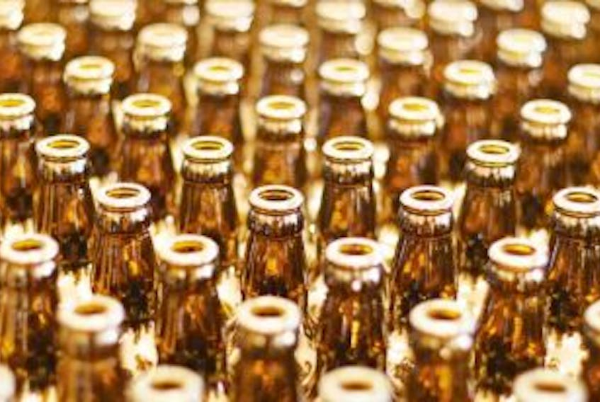 """[""""A senior official with New Brunswick's liquor corporation is defending a law that limits anyone in the province from having more than 12 pints of beer that weren't sold by a provincially licensed liquor outlet.""""]"""