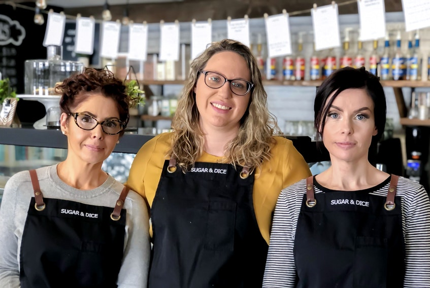 (L to R) Joanne Jones, Diana Parsons, and Denise Rogers are the co-owners of Sugar and Dice in Corner Brook. ASHLEE HILLIER PHOTO