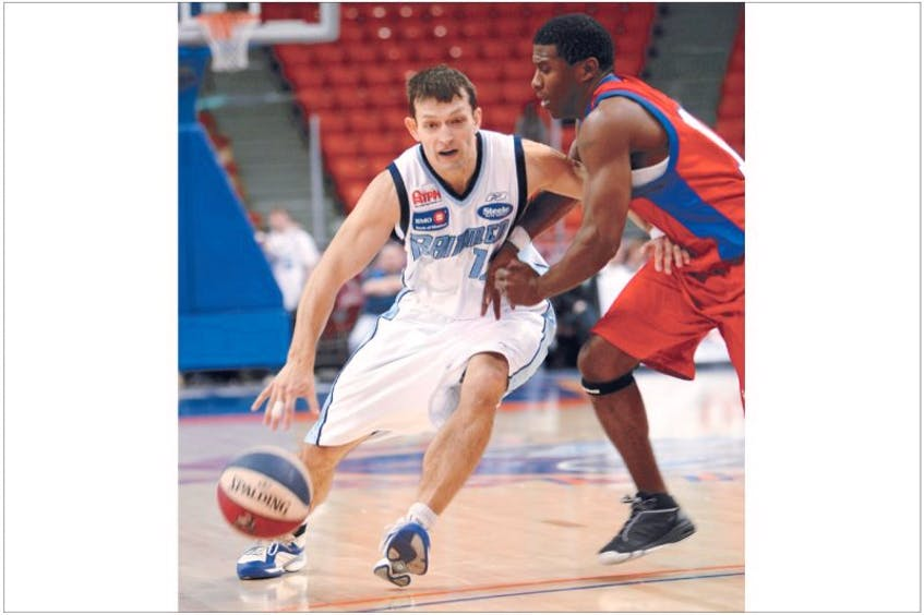 A decade ago, Peter Benoite (left) was one of the first players signed by the Halifax Rainmen professional basketball team. The Rainmen eventually became a founding member of NBL Canada, while Benoite has been head coach of the Memorial men's basketball team since 2008. - SaltWire Network