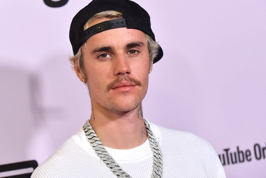 """Canadian pop star Justin Bieber (pictured) thinks Maple Leafs star centre Auston Matthews has """"the best moustache"""" in the NHL. (Getty Images)"""