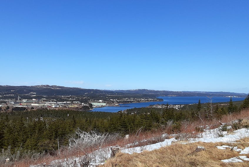 The view of Marystown and Mortier Bay from Marymount are quite stunning. An effort has begun to develop a Walk of Hope trail system in the Tolt Road area of the town. PAUL HERRIDGE/THE TELEGRAM