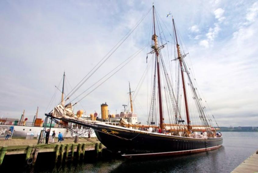 <span>After lengthy repairs, Bluenose II sails back into Halifax Harbour July 15. <br /></span>