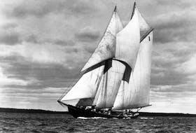 The Bluenose races in this 1931 photo. - W.R. MacAskill via Nova Scotia Archives