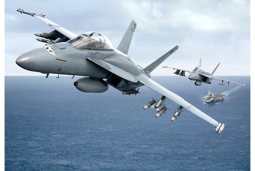 Boeing will offer Canada an advanced version of the Super Hornet fighter jet, shown in this company produced graphic.